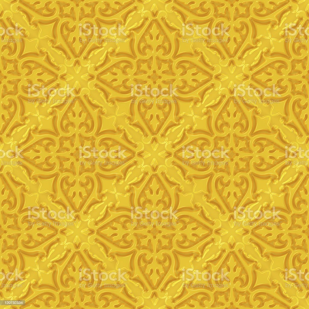 Seamless golden decoration royalty-free stock photo