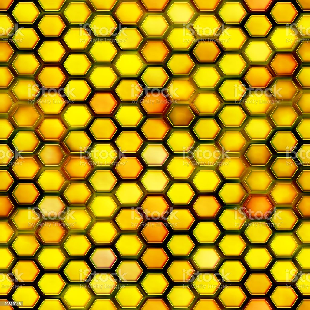 Seamless honeycomb royalty-free stock photo