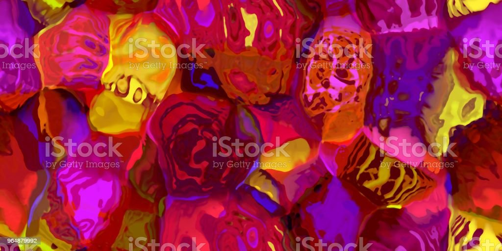 Seamless horizontal texture with abstract dyed paint in large colorful strokes royalty-free stock photo