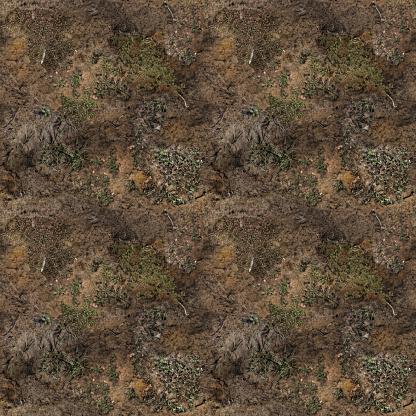 Seamless marsh muddy grass texture/background (1:1 Format).