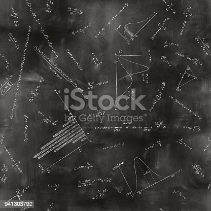 istock seamless math physics formulas on chalkboard 941303792