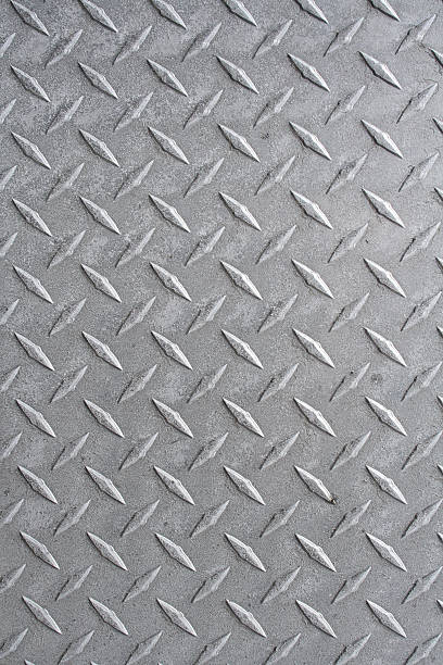 seamless metal pattern background - diamond plate background stock photos and pictures