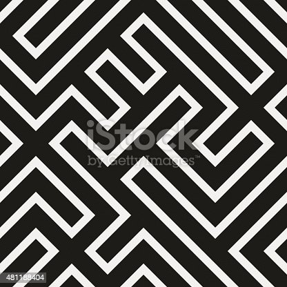 istock Seamless modern geometric design on white paper 481188404