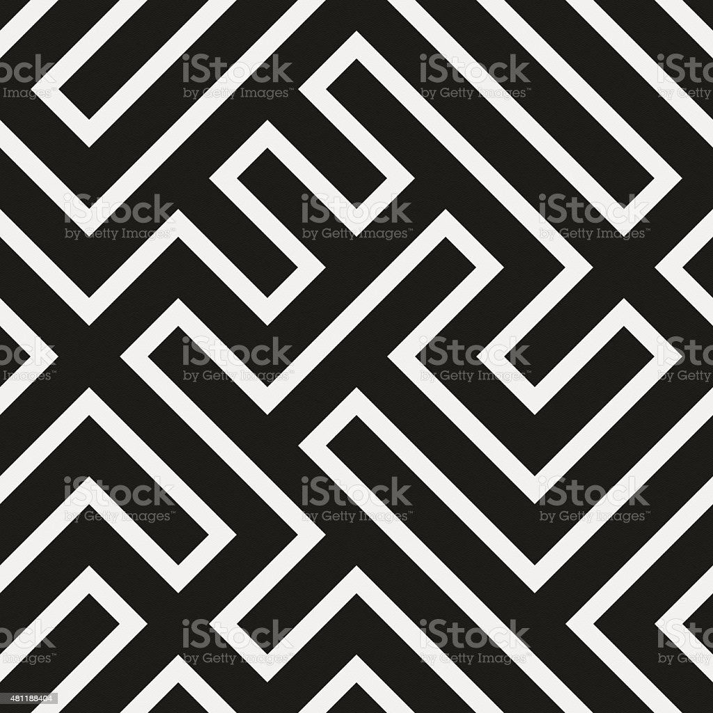 Seamless modern geometric design on white paper stock photo