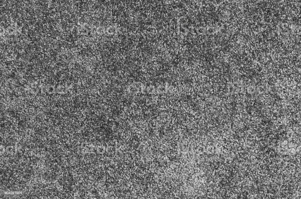 Seamless Monochrome Grey Carpet Texture Background From Above Stock