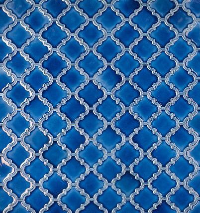 istock seamless mosaic blue tiled arabic pattern 1141967162