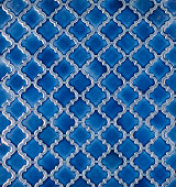seamless mosaic blue tiled arabic pattern