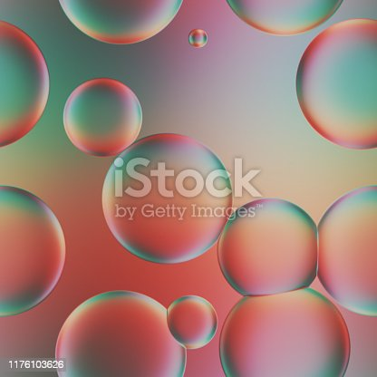 Seamless Multi-Coloured abstract bubble Backgrounds