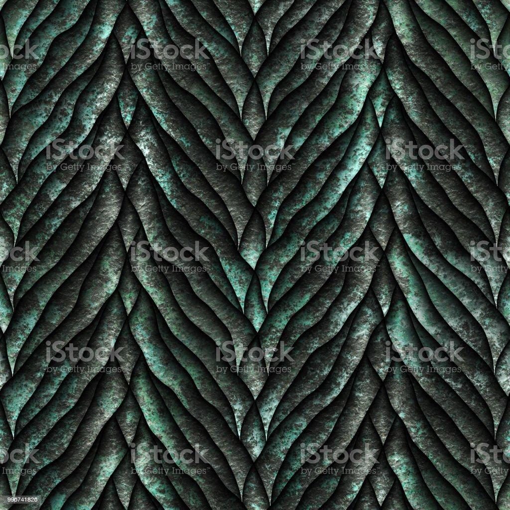 Seamless Oxide Metallic Texture Of Dragon Scales Stock Photo