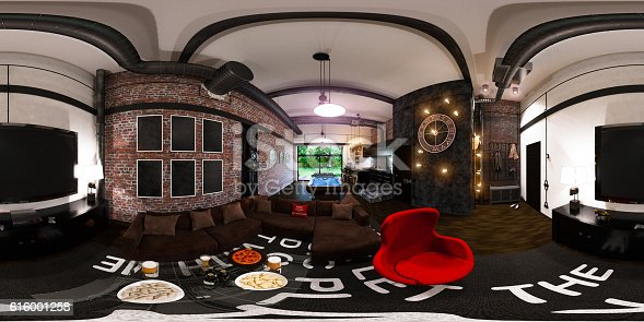 628979038istockphoto seamless panorama of interior design in loft sty 616001258