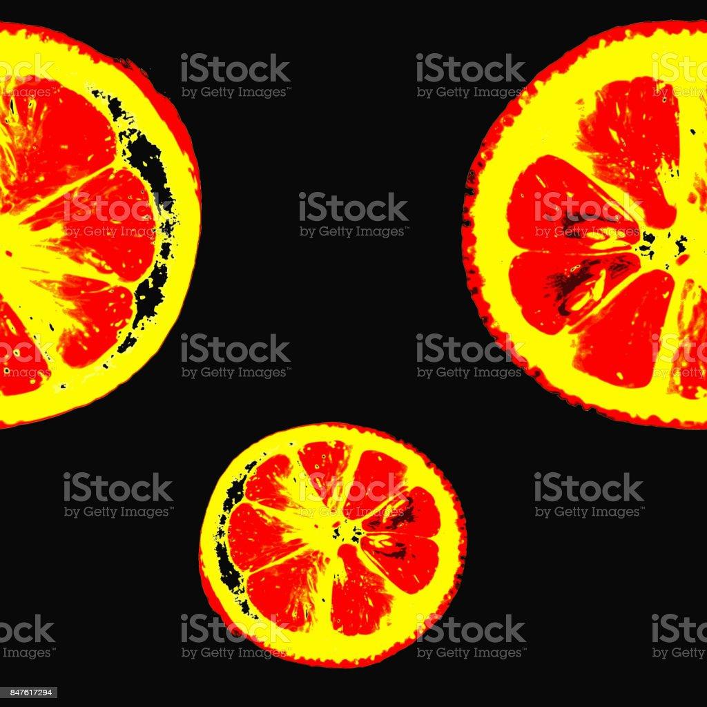 seamless pattern bright lemon stock photo