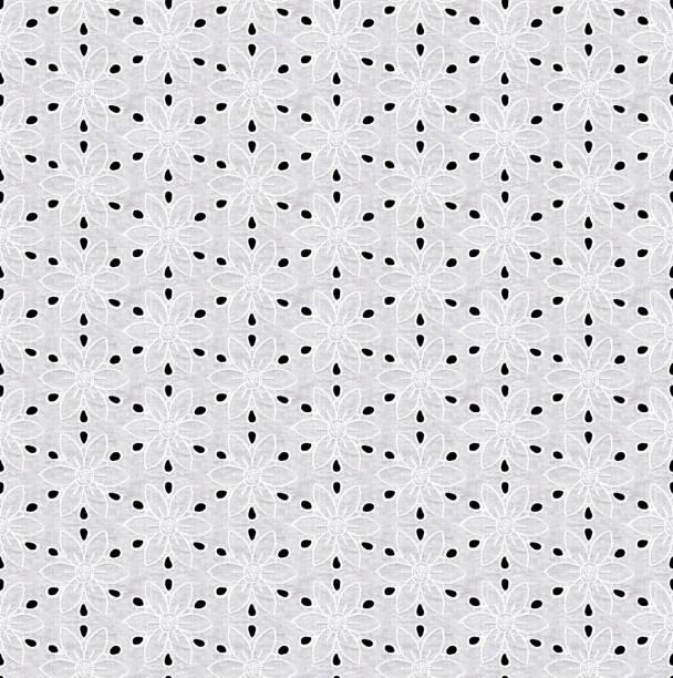 seamless pattern in the form of white lace on a black background - tiul tkanina zdjęcia i obrazy z banku zdjęć