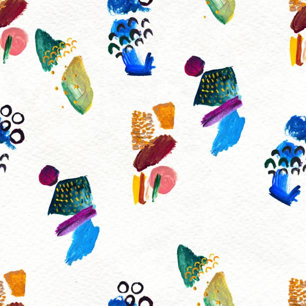 手描きのペイントストロークでシームレスなパターンを作成します。 ストックフォト