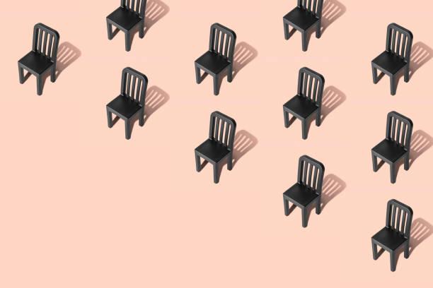 Patrón sin costuras hecho de sillas retro abstractas. - foto de stock