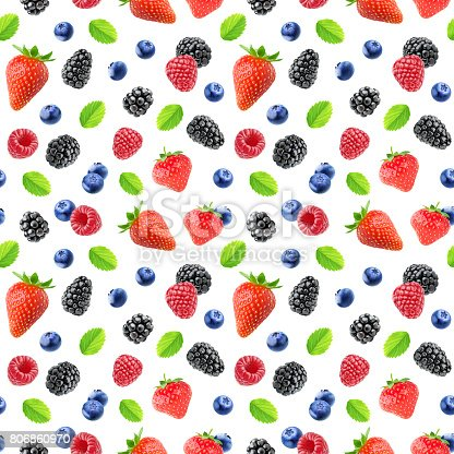 879258868 istock photo Seamless pattern with berries 806860970
