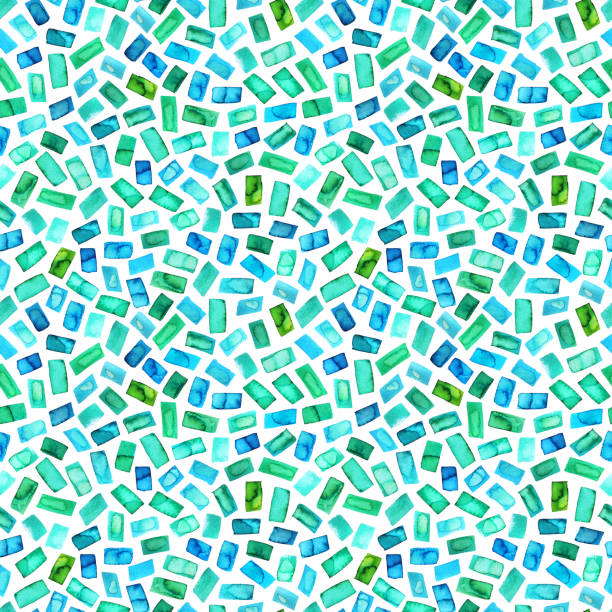 Seamless pattern with green rectangles. stock photo