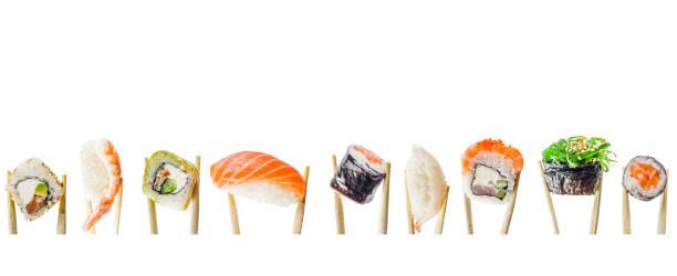 Nahtloses Muster mit sush – Foto