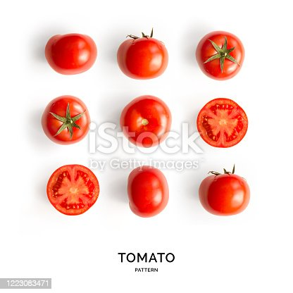 Red tomatoes from farms market in paper containers
