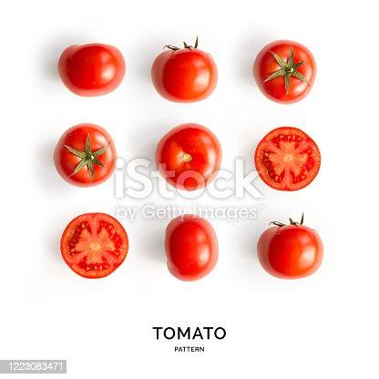 Tomato on the white background.