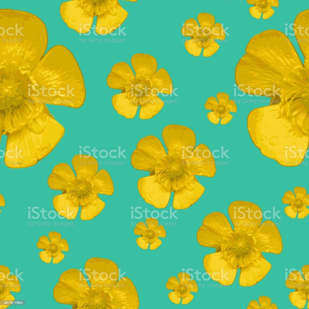 seamless pattern yellow flower stock photo