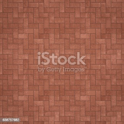 Seamless red zigzag pavement texture/background.