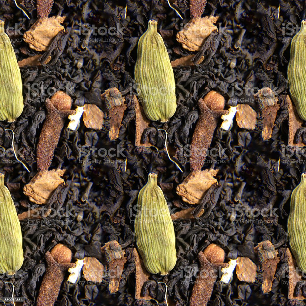 Seamless photo texture of masala tea stock photo
