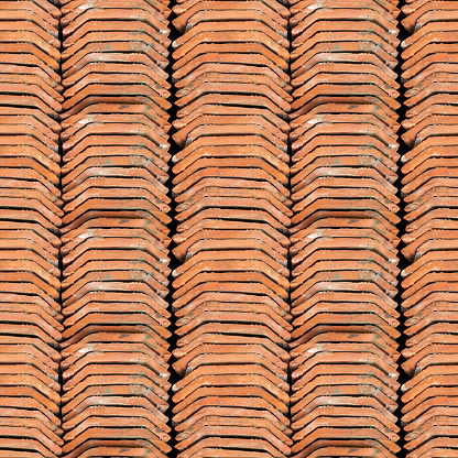 Foto de Textura Foto Perfeita Da Pilha Do Holandês Telhado De Telha e mais fotos de stock de Abstrato