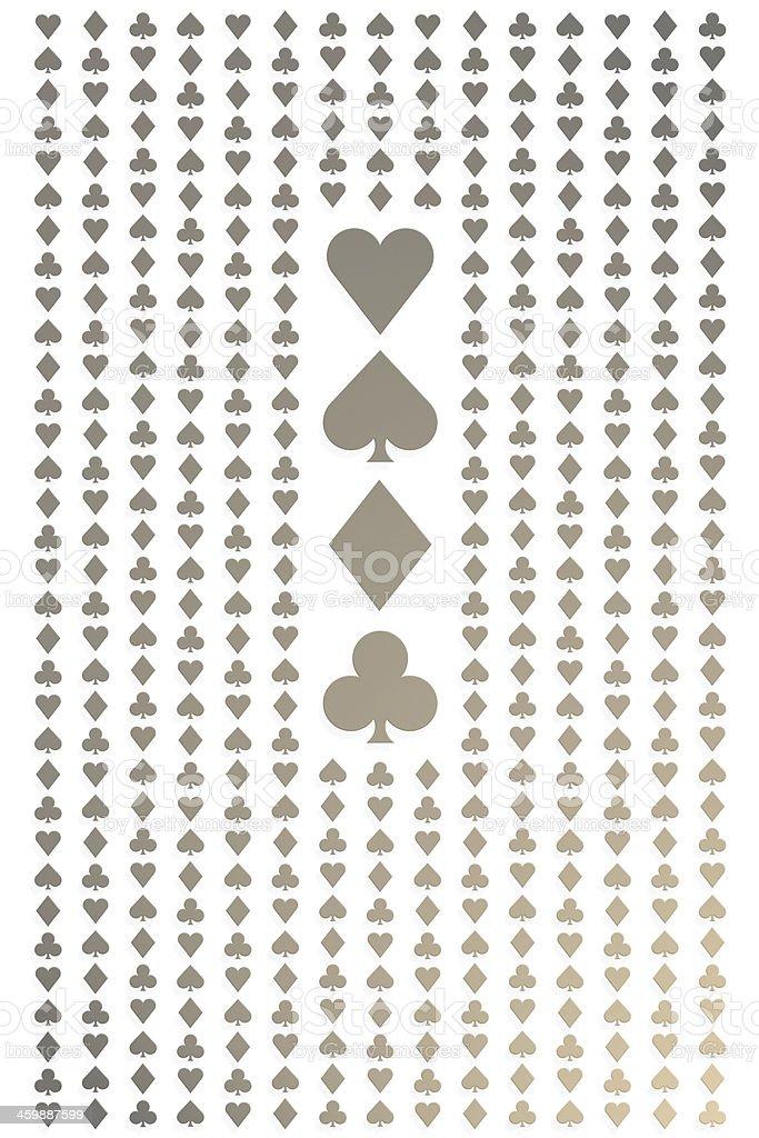 Seamless playing cards pattern stock photo