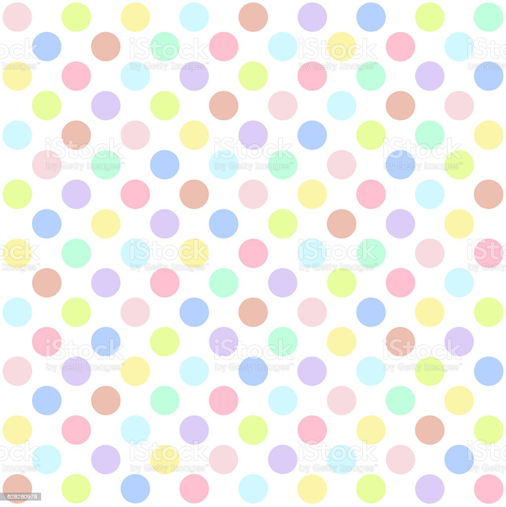 Seamless polka dots pattern background stock photo