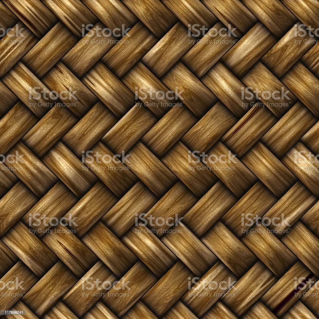Seamless rattan weave background royalty-free stock photo