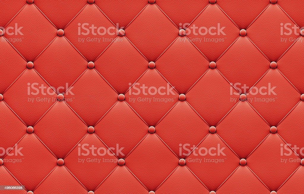 Seamless red leather upholstery pattern stock photo