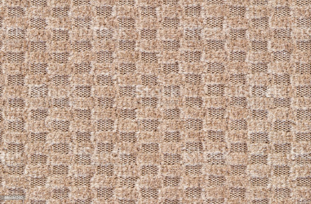 Seamless relief textile texture, brown small squares foto de stock royalty-free