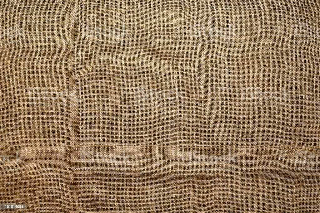 Seamless sackcloth texture stock photo