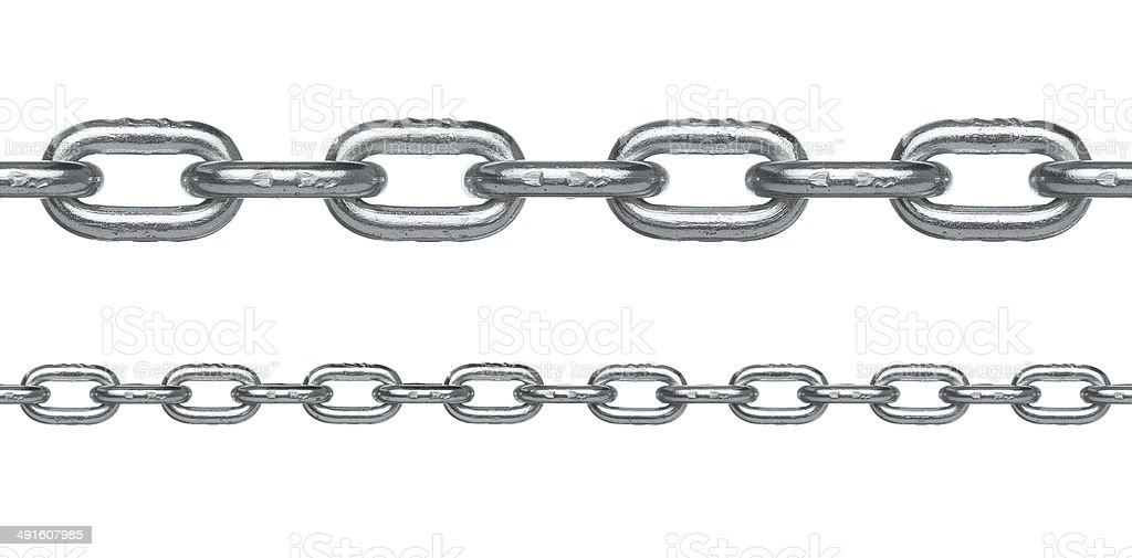 Seamless silver chain stock photo