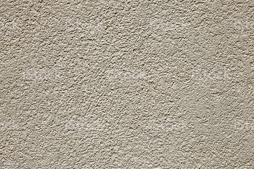 Seamless Stippled Beige Stucco Wall Texture Background Stock Photo