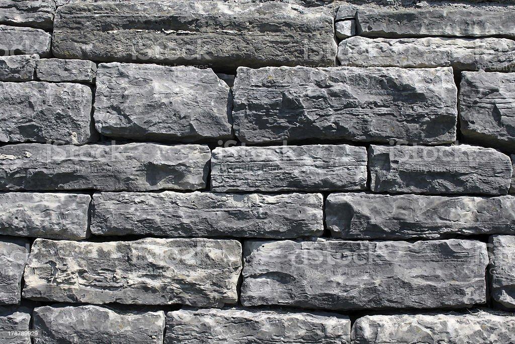 Seamless stone wall background royalty-free stock photo
