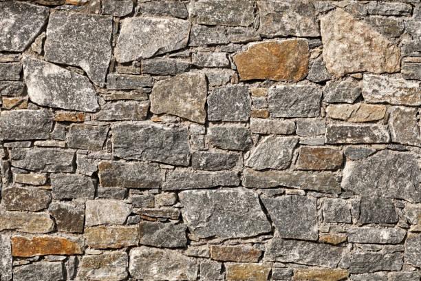 Seamless stone wall background stock photo