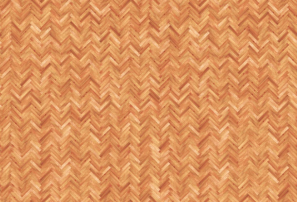 Seamless texture Herringbone pattern parquet stock photo