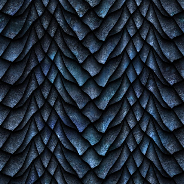 Seamless texture of dragon scales stock photo