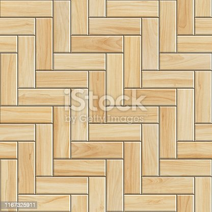 Seamless texture of herringbone wooden parquet. High resolution pattern of light wood