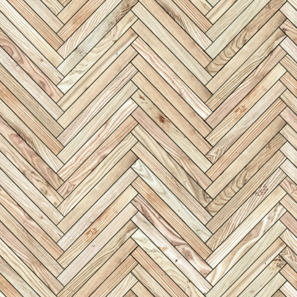 Seamless texture of parquet from natural wood (herringbone) stock photo