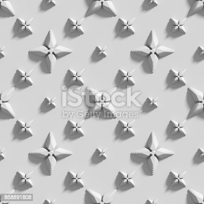 istock Seamless texture with abstract crosses. 3D render. 858891808