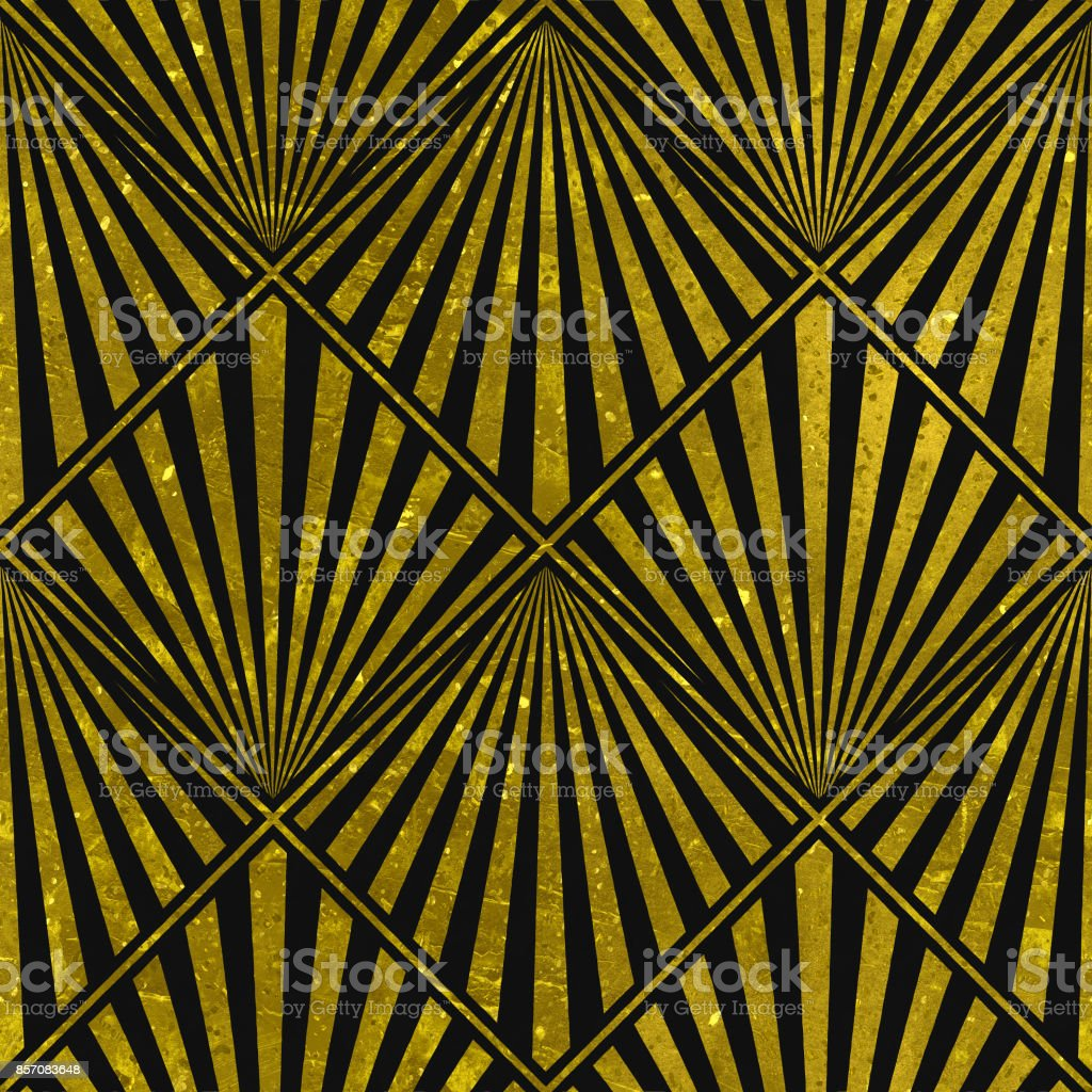 Seamless texture with gold and black pattern stock photo