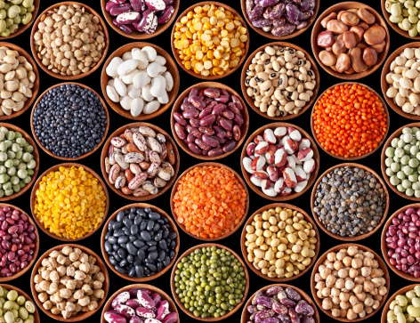istock Seamless texture with legumes 178384298