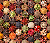 istock Seamless texture with spices and herbs 477756915