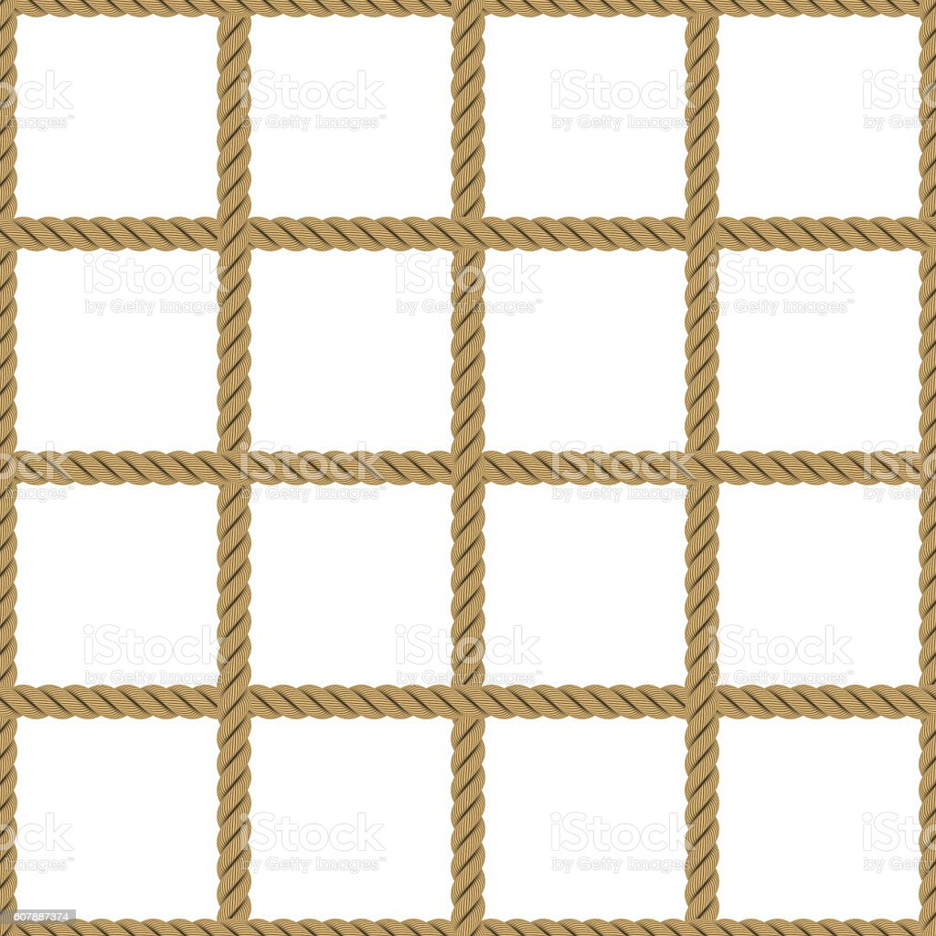 Seamless Tileable Rope Net Texture Isolated On White ...