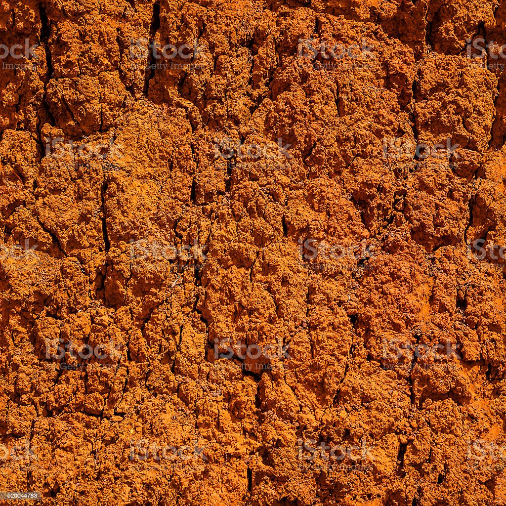 HQ seamless tileable texture  of terra cotta rockface stock photo