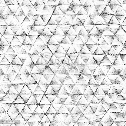 477312602 istock photo Seamless triangles geometric shapes drawn by pencil - polygonal abstract background full of lines 937003720