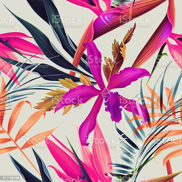 Seamless tropical flower plant and leaf pattern background picture id511106168?b=1&k=6&m=511106168&s=612x612&h=sbv8glorwrzt 4 w3kganda7xgrtwhzr6xsjbx5jf0m=