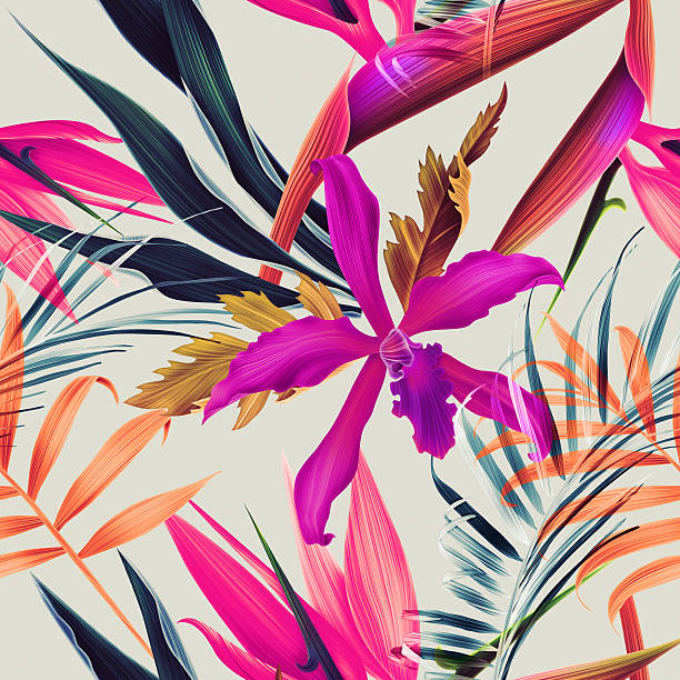 Seamless tropical flower plant and leaf pattern background picture id511106168?b=1&k=6&m=511106168&s=612x612&w=0&h=uv2jznq33grg6nqahhynq77u5jlf9vuhtbnl8wfvwqs=